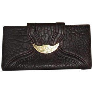 FENDI Luxury SPY Brown Textured Leather Bi-fold